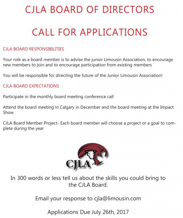 CJLA Board Applications 2017